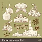 Elemento di ramadan. — Vettoriale Stock