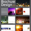 Brochure Layout Design Template — Stock Vector