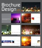 Broşür düzeni tasarım şablonu — Stok Vektör