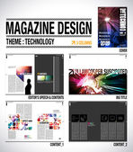 Magazine Layout Design Template — Stock Vector