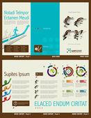 Tri-fold Financial Theme Brochure Layout — Stock Vector