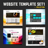 Website Design Template Set — Stock Vector