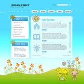 Vector Website Design Template — Stock Vector