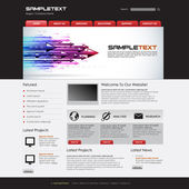 Vector Website Design Template — Stockvektor