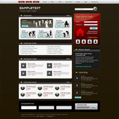 Plantilla de diseño de sitio web de vector — Vector de stock