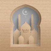3d pappe moschee. — Stockvektor