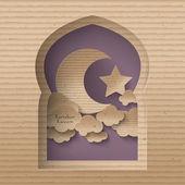 3D Muslim Cardboard Graphics — Stock Vector