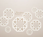 3D Muslim Paper Graphics. — Stockvektor