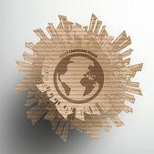 Cardboard Graphics — Stockvektor