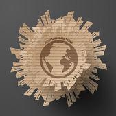 Cardboard Graphics — Stock Vector