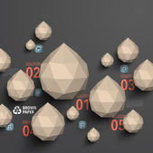Brown Paper Polygonal Graphics — Stock Vector