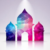 Polygonal Crystal Mosque — Stock Vector
