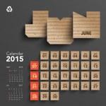 2015 Cardboard Calendar Design - June — Stock Vector #49580043