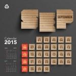 2015 Cardboard Calendar Design - September — Stock Vector #49580061