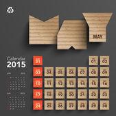2015 Cardboard Calendar Design - May — Stock Vector