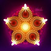 Diwali Oil Lamp — Stock Vector
