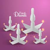 Diwali Oil Lamps — Stock Vector