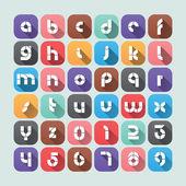 Vector 2D Flat Alphabet Design — Stock Vector