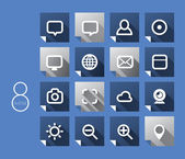 Vector 2D Flat Icons Design — Stock Vector