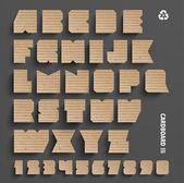Vector Cardboard Alphabet Set — Stock Vector