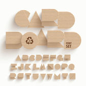 Vector Cardboard Alphabet Set — Stock Vector