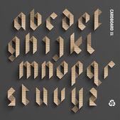 Vector Cardboard Alphabet Set — Vettoriale Stock