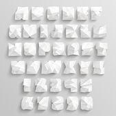 Vector Crumpled Paper Alphabet Set — Stock Vector