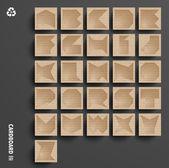 PrintVector Cardboard Alphabet Set — Stock Vector