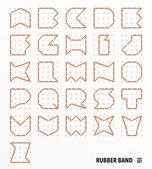 Vector Rubber Band Alphabet Set — Stock Vector