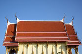 Main chapel at thailand temple with blue sky, — Stock Photo