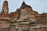 Statue of Buddha at Wat Mahatat, Ayutthaya Thailand. — Stock Photo