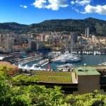Monaco. Bay. Boats. Sea. Coast line — Stock Photo