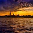 Закат в Питере / Sunset on the Neva River in Saint-Petersburg — Stock Photo