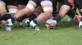 橄榄球 scrum — 图库照片