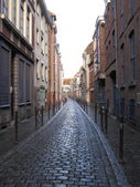 Typical cobbled street Lille France — Стоковое фото