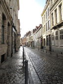 Typical cobbled street Lille France — Foto Stock