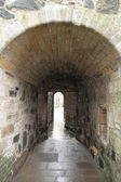 Tunnel in Sterling Castle, Sterling Scotland uk — Foto Stock