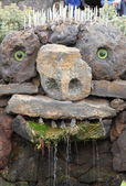 Water fountain  at El Jardin del Cactus, Lanzarote — Stock Photo