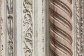 A detail of an ancient marble column — Stock Photo