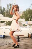 Peachpuff elbise — Stok fotoğraf