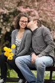 Våren kyss — Stockfoto