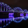 Railway bridge in Riga - Stock Photo