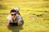 On lawn — Stock Photo