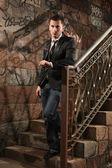 Nas escadas — Foto Stock