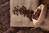 Scattered coffee — Stock Photo