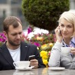 Busy couple — Stock Photo