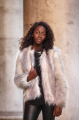 Fur coat — Stock Photo