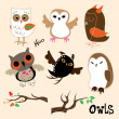 Owls — Stock Vector