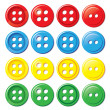 Solid Color Buttons — Stock Vector #33459339