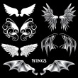 Vector Angel and Demon Wings — Stok Vektör